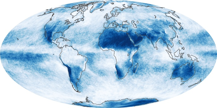 Global Map Cloud Fraction Image 221