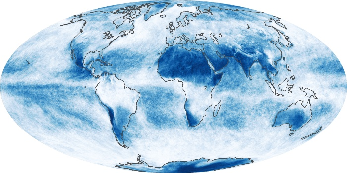 Global Map Cloud Fraction Image 224