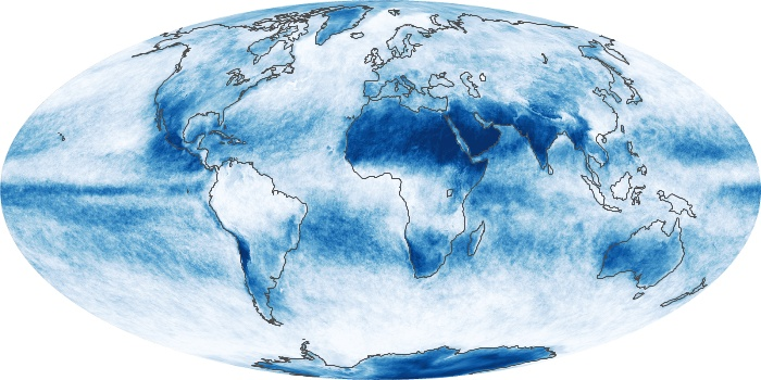 Global Map Cloud Fraction Image 225