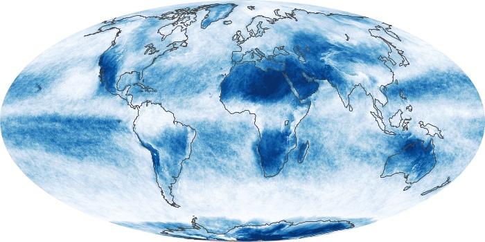 Global Map Cloud Fraction Image 227