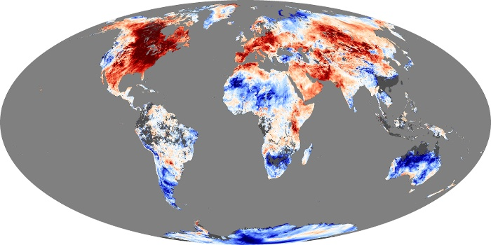 Global Map Land Surface Temperature Anomaly Image 1