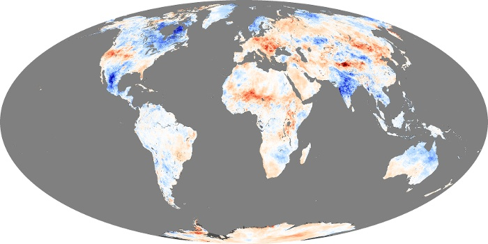 Global Map Land Surface Temperature Anomaly Image 4
