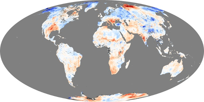 Global Map Land Surface Temperature Anomaly Image 6