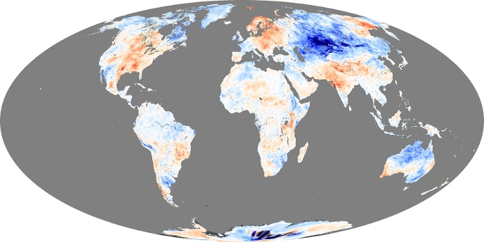 Global Map Land Surface Temperature Anomaly Image 8