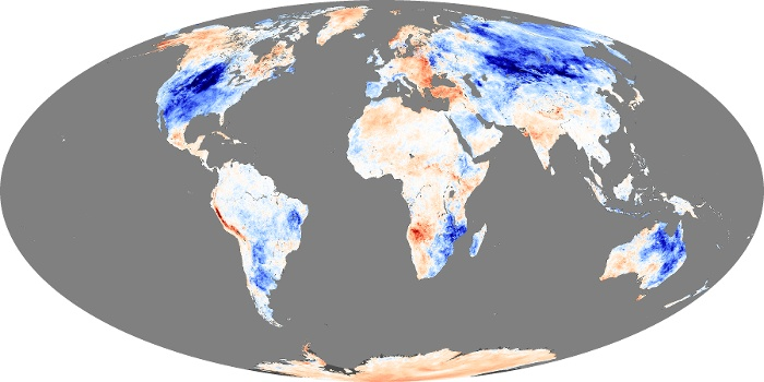 Global Map Land Surface Temperature Anomaly Image 9