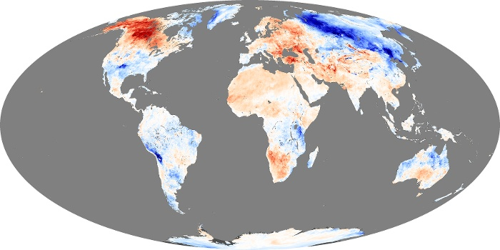 Global Map Land Surface Temperature Anomaly Image 12