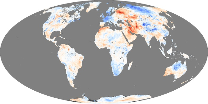 Global Map Land Surface Temperature Anomaly Image 15