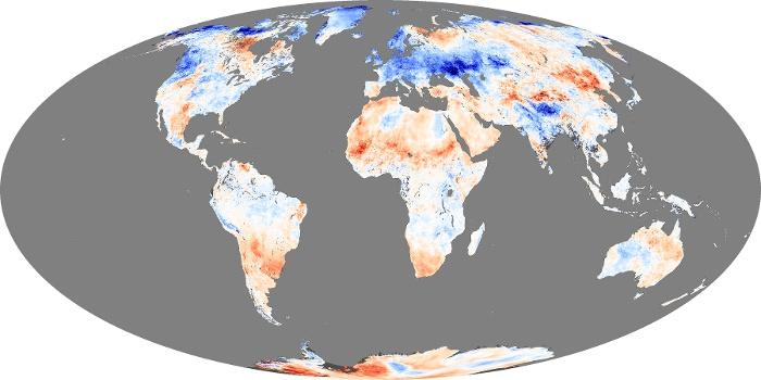 Global Map Land Surface Temperature Anomaly Image 16