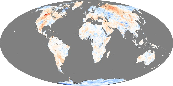Global Map Land Surface Temperature Anomaly Image 19