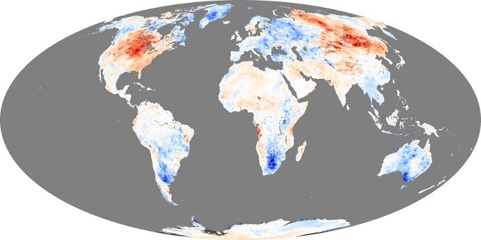 Global Map Land Surface Temperature Anomaly Image 22