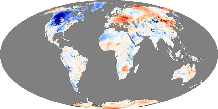 Global Map Land Surface Temperature Anomaly Image 25