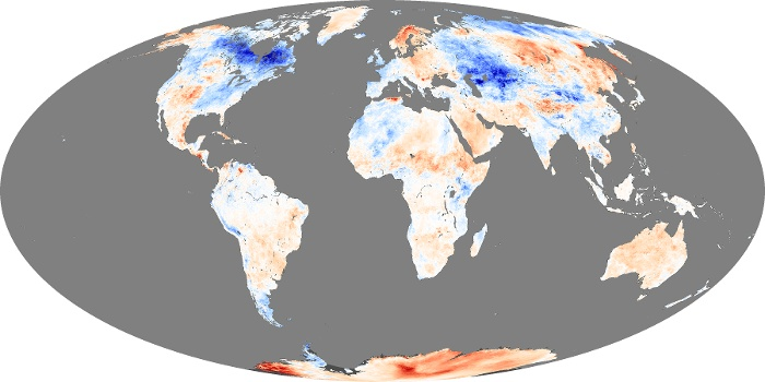 Global Map Land Surface Temperature Anomaly Image 27