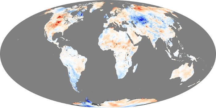 Global Map Land Surface Temperature Anomaly Image 29