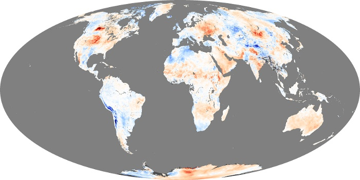 Global Map Land Surface Temperature Anomaly Image 30