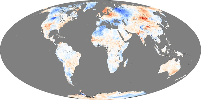 Global Map Land Surface Temperature Anomaly Image 2