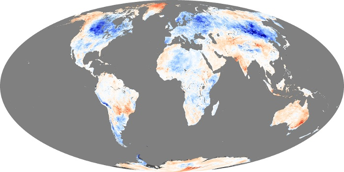 Global Map Land Surface Temperature Anomaly Image 33