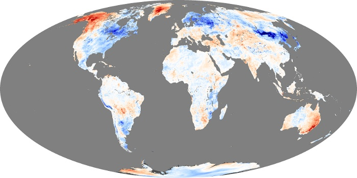 Global Map Land Surface Temperature Anomaly Image 5