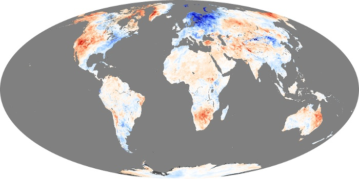 Global Map Land Surface Temperature Anomaly Image 36