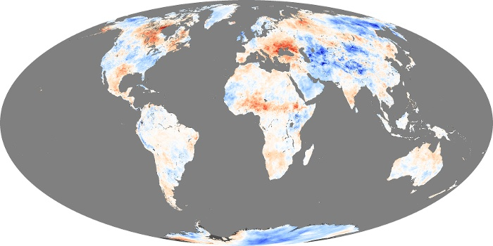 Global Map Land Surface Temperature Anomaly Image 11