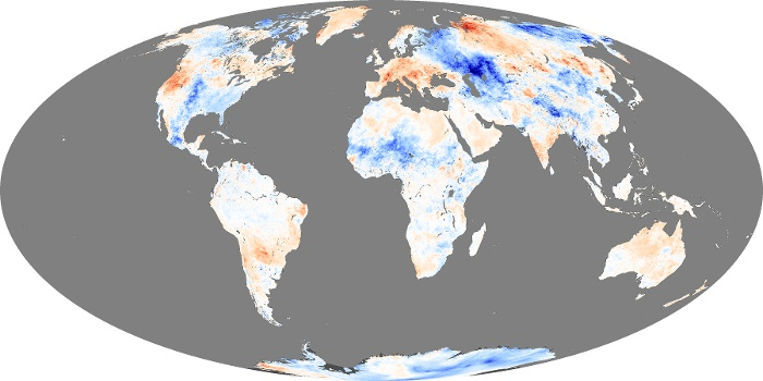 Global Map Land Surface Temperature Anomaly Image 40