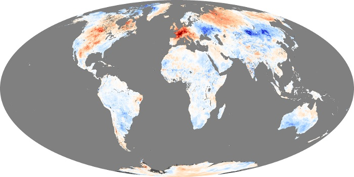 Global Map Land Surface Temperature Anomaly Image 43