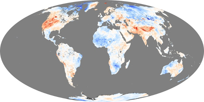 Global Map Land Surface Temperature Anomaly Image 49