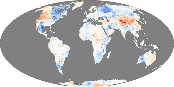 Global Map Land Surface Temperature Anomaly Image 51