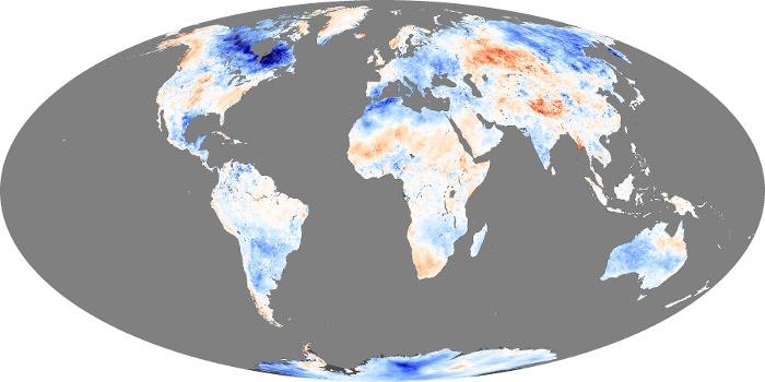 Global Map Land Surface Temperature Anomaly Image 23