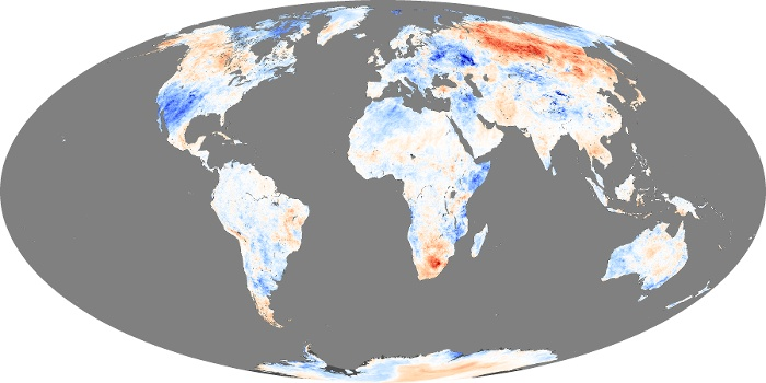 Global Map Land Surface Temperature Anomaly Image 58