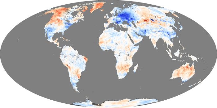 Global Map Land Surface Temperature Anomaly Image 3