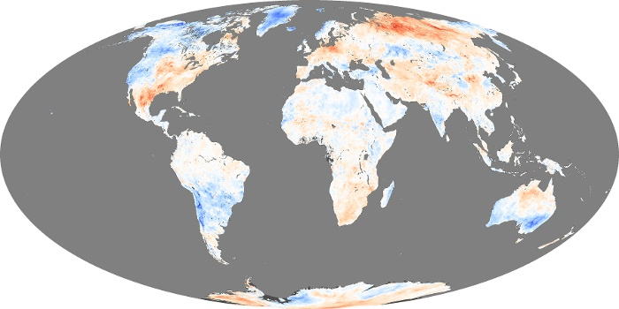 Global Map Land Surface Temperature Anomaly Image 68