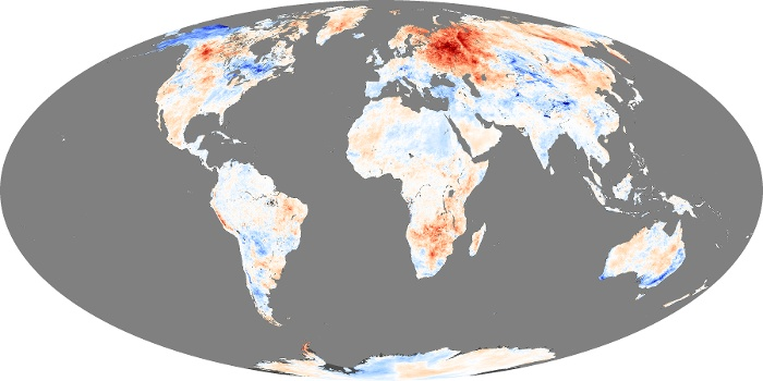Global Map Land Surface Temperature Anomaly Image 69