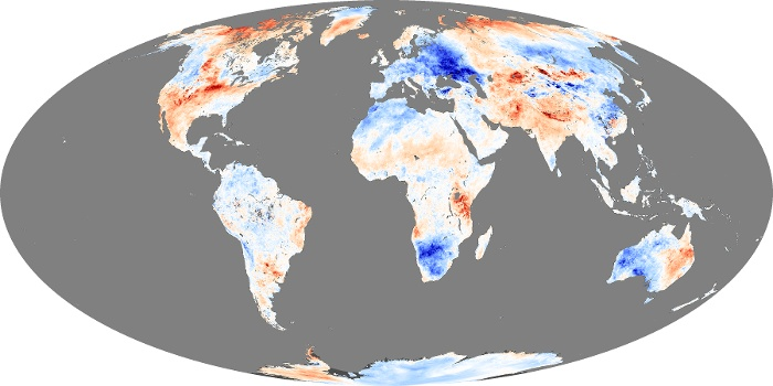 Global Map Land Surface Temperature Anomaly Image 44
