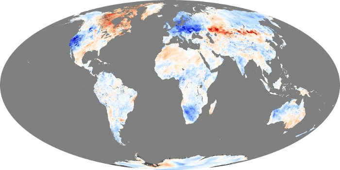 Global Map Land Surface Temperature Anomaly Image 45