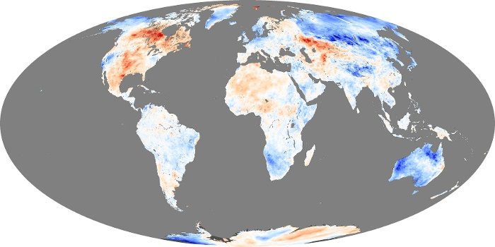 Global Map Land Surface Temperature Anomaly Image 46