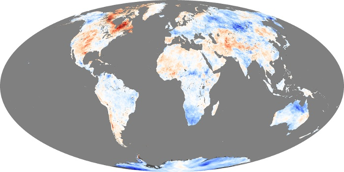 Global Map Land Surface Temperature Anomaly Image 47