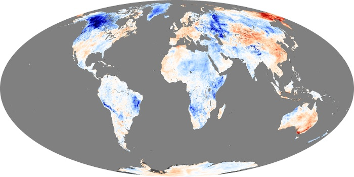 Global Map Land Surface Temperature Anomaly Image 81
