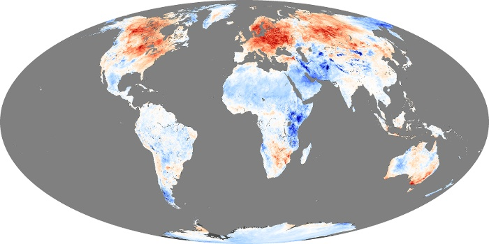 Global Map Land Surface Temperature Anomaly Image 82