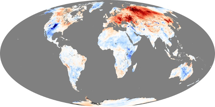 Global Map Land Surface Temperature Anomaly Image 55