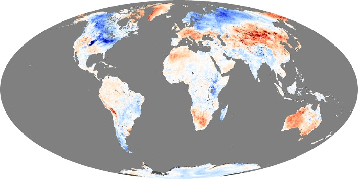 Global Map Land Surface Temperature Anomaly Image 84