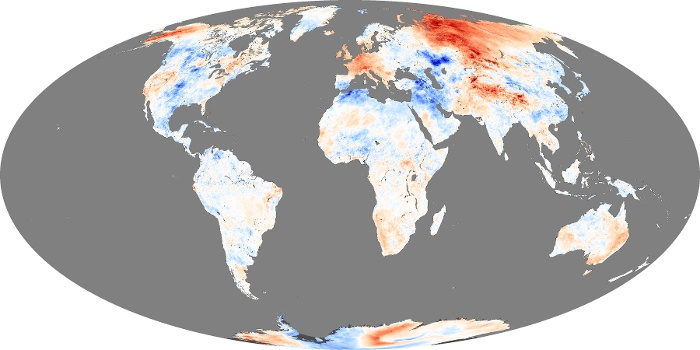 Global Map Land Surface Temperature Anomaly Image 87