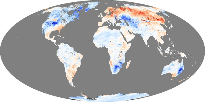 Global Map Land Surface Temperature Anomaly Image 94
