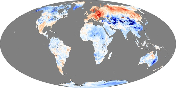 Global Map Land Surface Temperature Anomaly Image 38