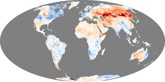 Global Map Land Surface Temperature Anomaly Image 98