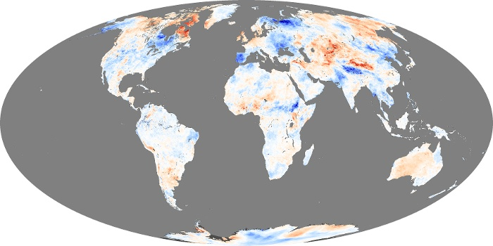 Global Map Land Surface Temperature Anomaly Image 99