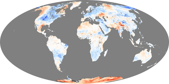 Global Map Land Surface Temperature Anomaly Image 85