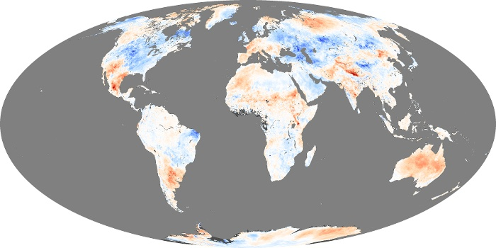 Global Map Land Surface Temperature Anomaly Image 86
