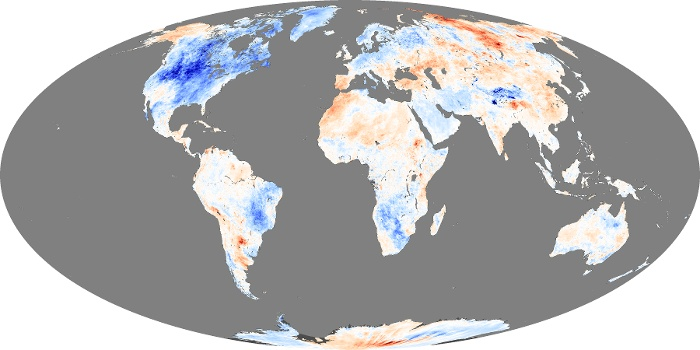 Global Map Land Surface Temperature Anomaly Image 88