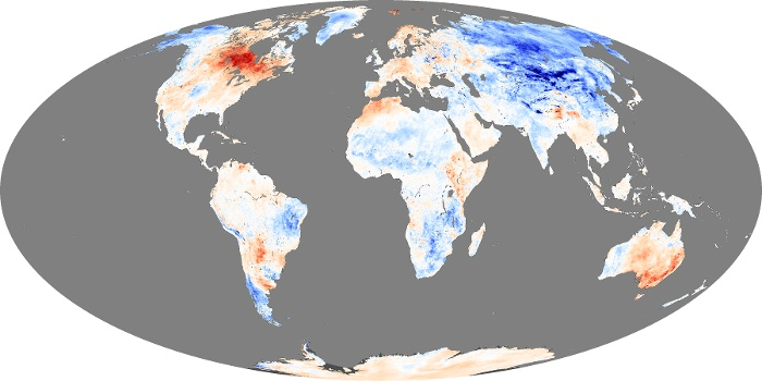 Global Map Land Surface Temperature Anomaly Image 89