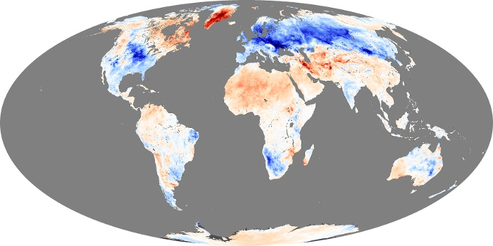Global Map Land Surface Temperature Anomaly Image 91